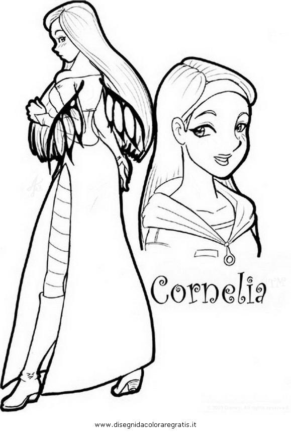 Disegno witch cornelia personaggio cartone animato da