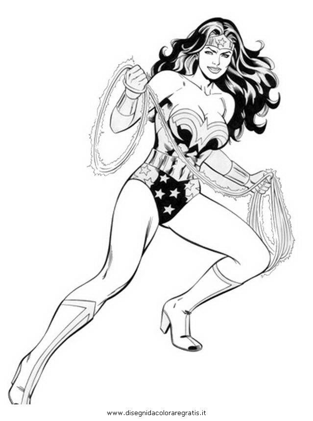 Disegno Wonder Woman 08 Personaggio Cartone Animato Da Colorare