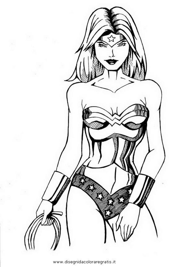 Disegno wonder woman personaggio cartone animato da