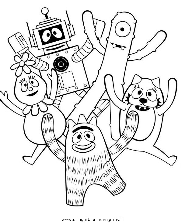 yogabbagabba coloring pages - photo #34