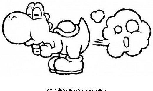 Disegno Yoshi 14 Personaggio Cartone Animato Da Colorare