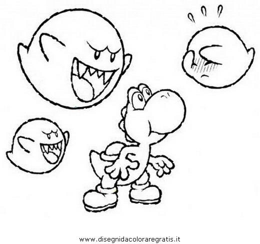 Disegno yoshi personaggio cartone animato da colorare