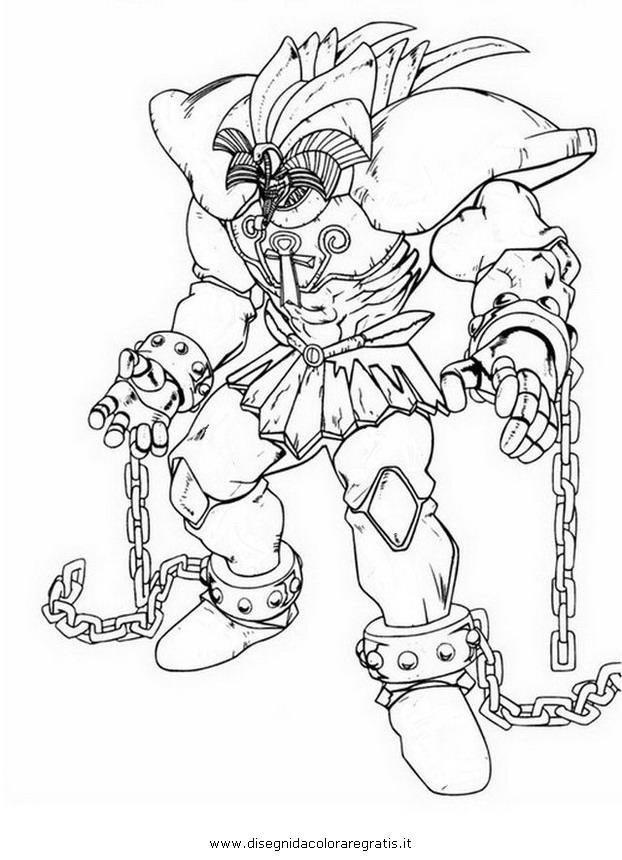 Disegno Yu Gi Oh Exodia Personaggio Cartone Animato Da Colorare