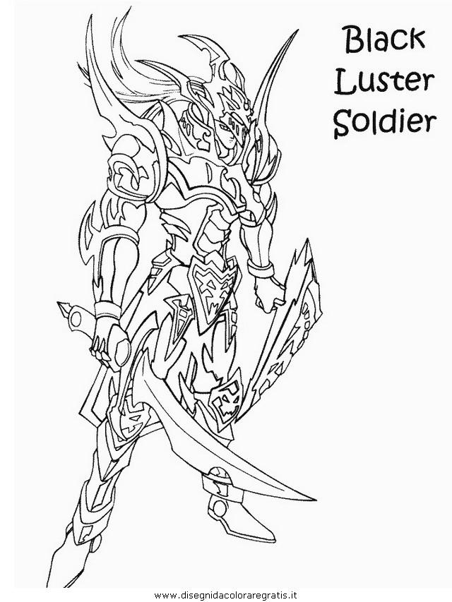 Disegno yugioh personaggio cartone animato da colorare