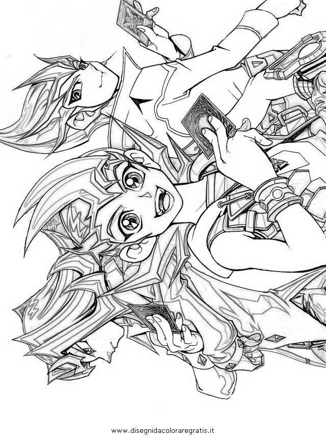 Disegno zexal personaggio cartone animato da colorare