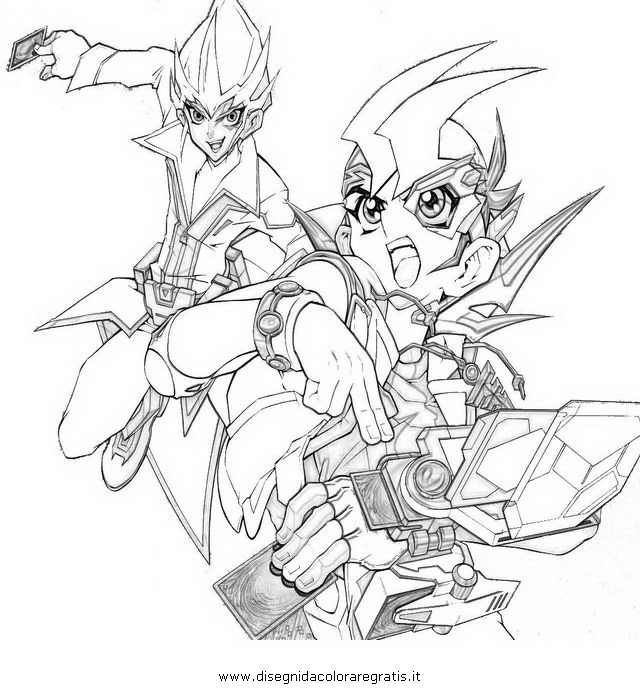 Yu Gi Oh Zexal Pages Coloring Pages
