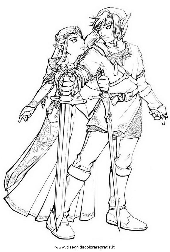 Disegno Zelda 28 Personaggio Cartone Animato Da Colorare