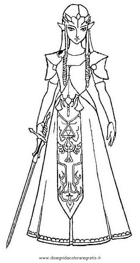Disegno Zelda31 Personaggio Cartone Animato Da Colorare