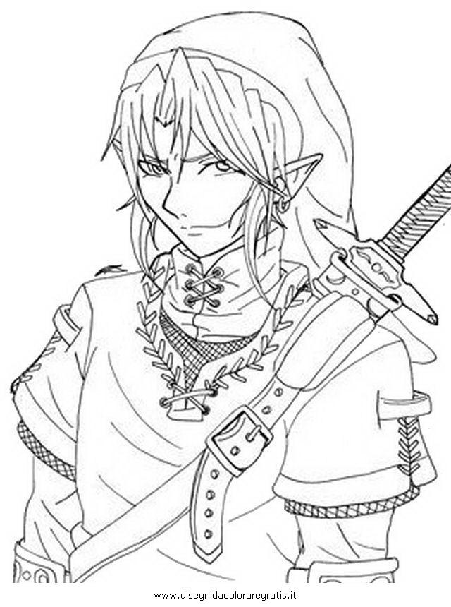 Disegno Zeldalink4 Personaggio Cartone Animato Da Colorare