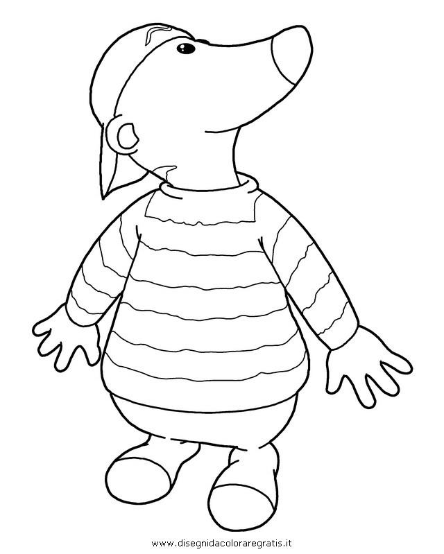 Disegno zigby mcmeer personaggio cartone animato da colorare