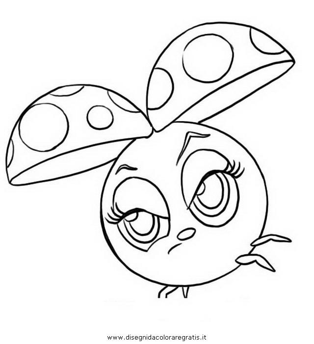 Disegno zoobles coccinelle personaggio cartone animato da
