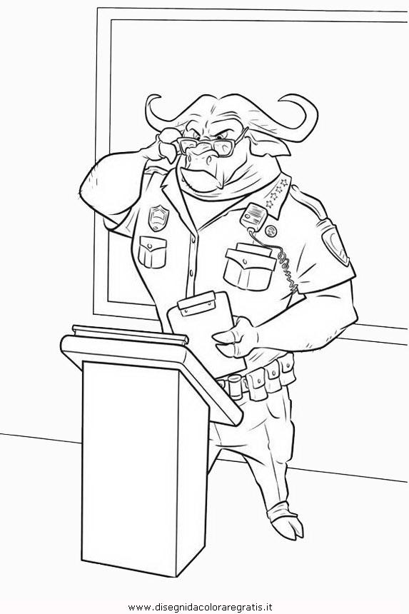 Disegno zootropolis personaggio cartone animato da