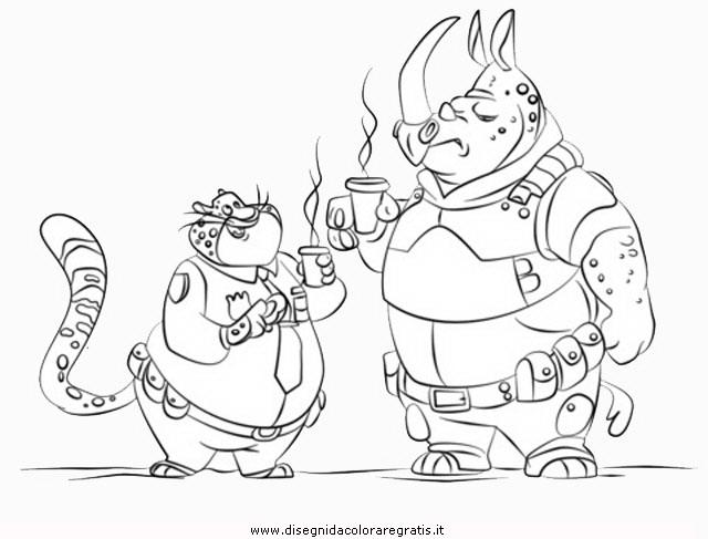 Disegni Da Colorare Di Cartoni Animati: Disegno Zootropolis-28: Personaggio Cartone Animato Da