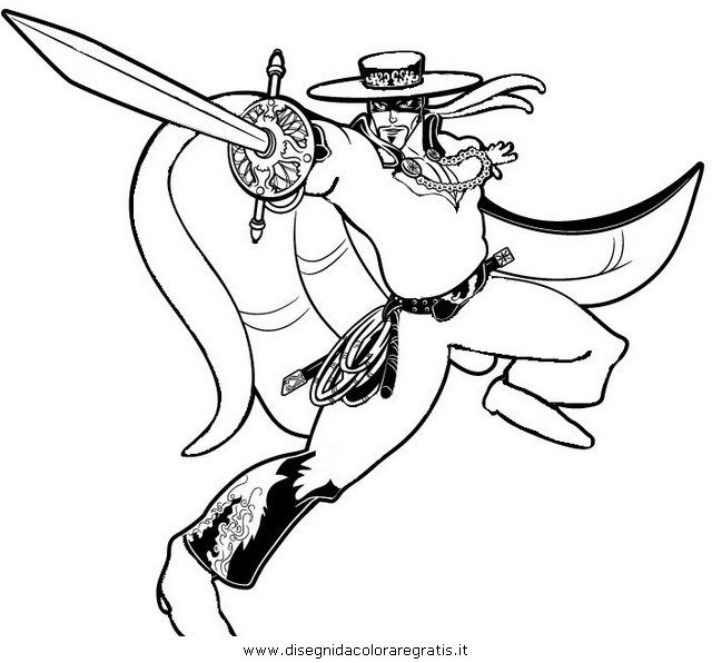 Coloring Pages Zorro : Free zorro one piece coloring pages