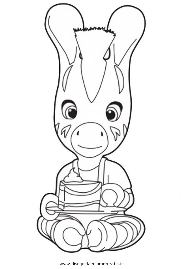 Disegno zou personaggio cartone animato da colorare