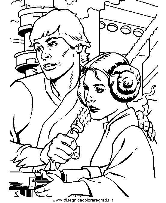 disegni da colorare star wars leia