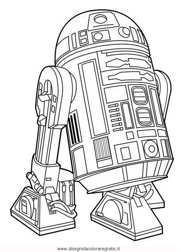 Disegno star wars categoria fantascienza da colorare
