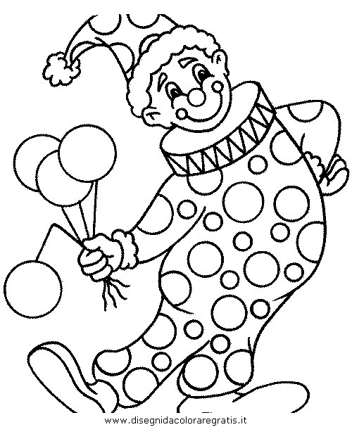 Disegno Circo Clown 11 Categoria Fantasia Da Colorare