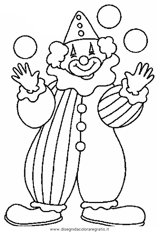 Disegno Circo Clown 19 Categoria Fantasia Da Colorare
