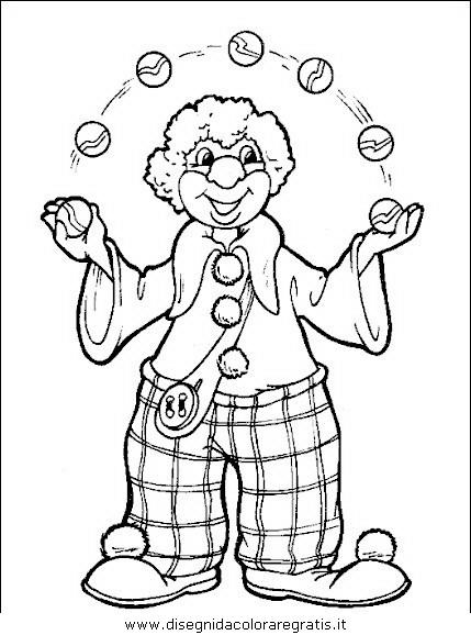 Disegno Clown Circo 25 Categoria Fantasia Da Colorare