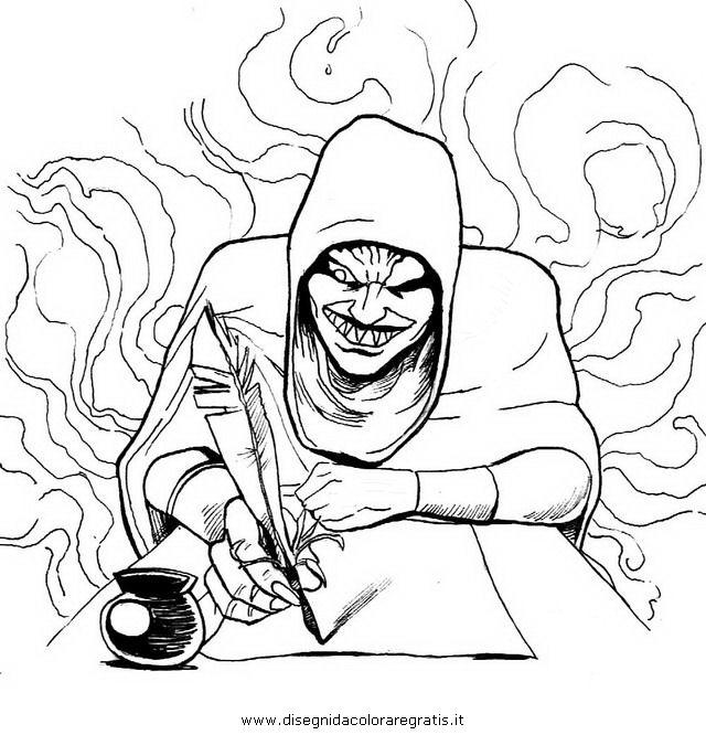 Disegno Diavolo 10 Categoria Fantasia Da Colorare