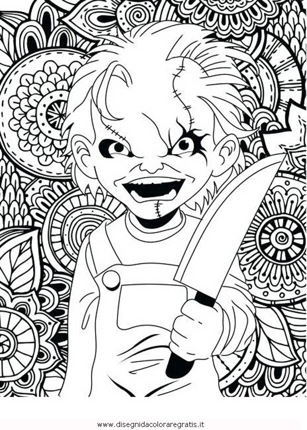 Disegno Horror 02 Categoria Fantasia Da Colorare