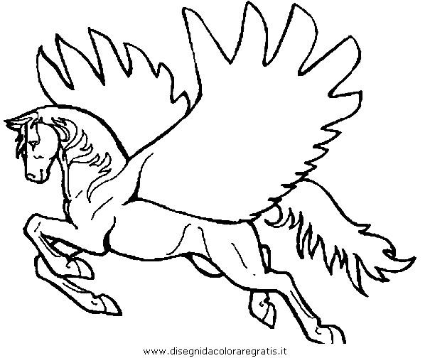 Disegno pegaso cavallo 07 categoria fantasia da colorare - Unicorno alato pagine da colorare ...