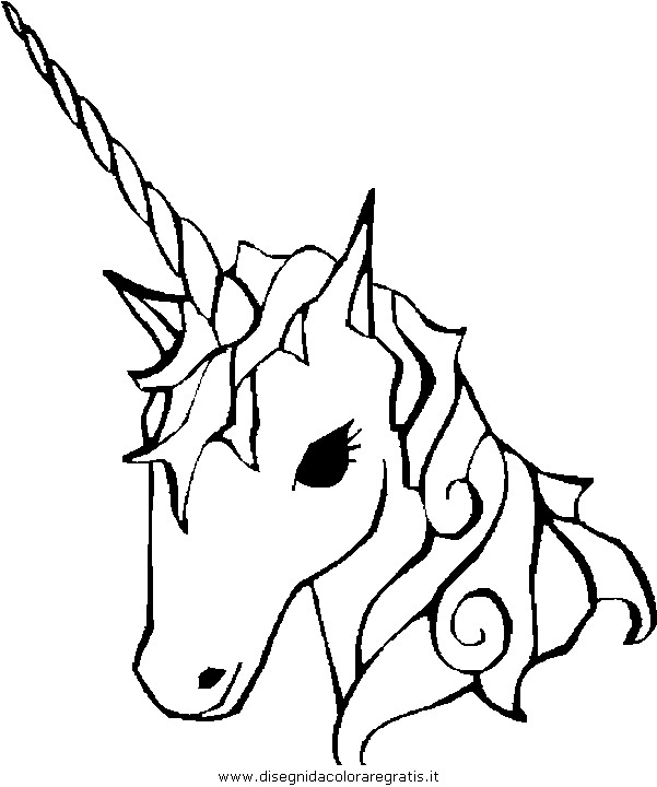 Disegno Unicorno 05 Categoria Fantasia Da Colorare