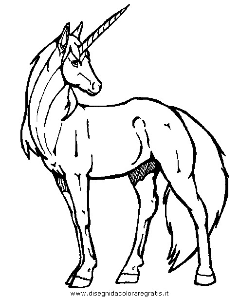 Disegno Unicorno08 Categoria Fantasia Da Colorare