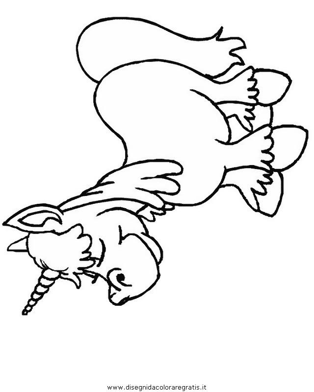 Disegno Unicorno16 Categoria Fantasia Da Colorare