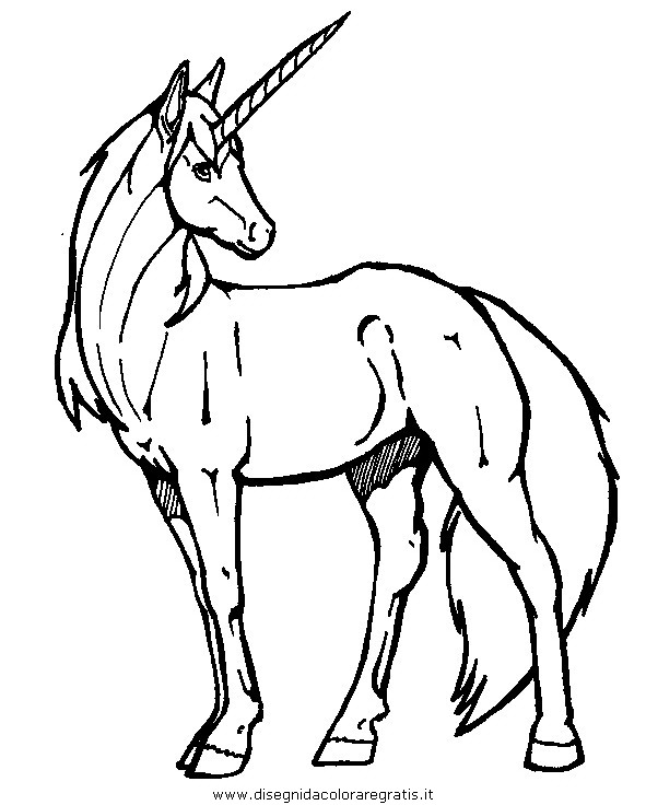 Disegno Unicorno31 Categoria Fantasia Da Colorare