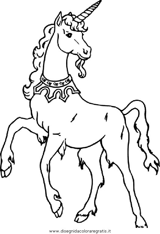 Disegno Unicorno 32 Categoria Fantasia Da Colorare