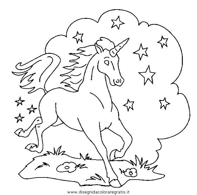 Disegno Unicorno43 Categoria Fantasia Da Colorare