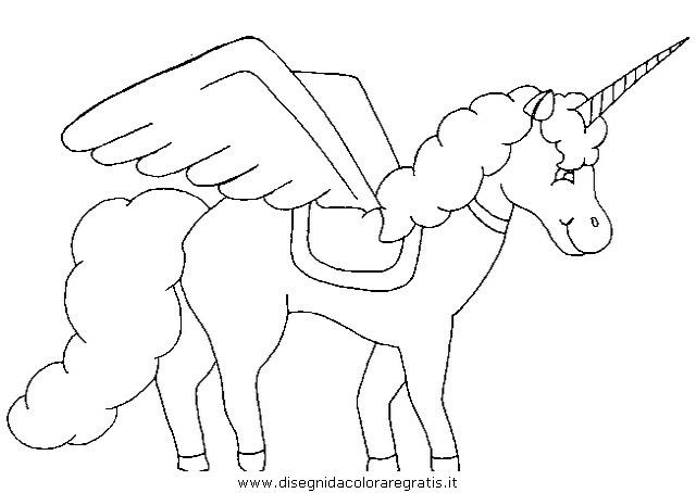 Disegno Unicorno 45 Categoria Fantasia Da Colorare