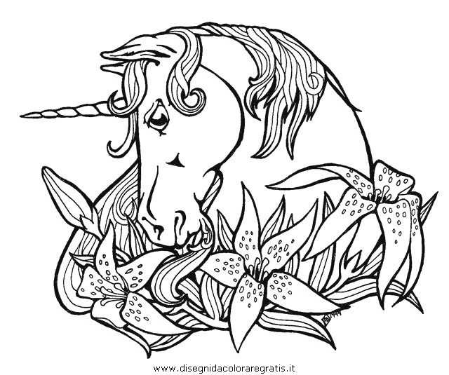 Disegno Unicorno 48 Categoria Fantasia Da Colorare