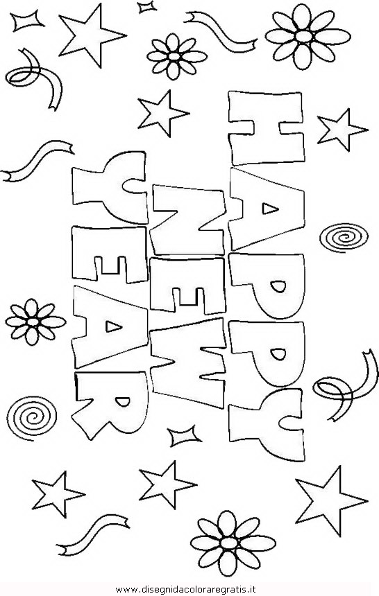 Disegno Buon Anno 2 Categoria Festivita Da Colorare