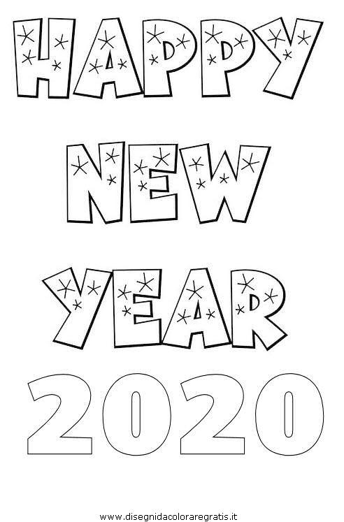 Disegno Capodanno 2020 01 Categoria Festivita Da Colorare