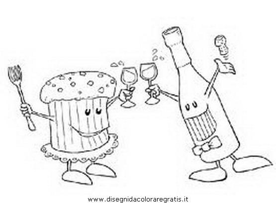 Disegno Spumante_champagne_1 Categoria Festivita Da Colorare