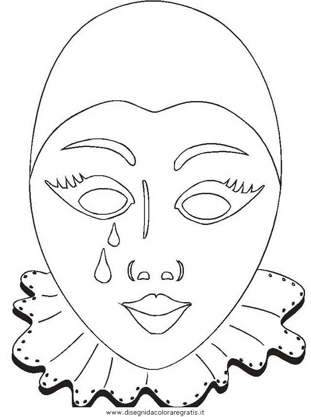 Disegno carnevale 50 categoria festivita da colorare for Maschere stampabili