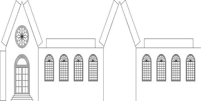 Disegno chiesa da costruire categoria giochi da colorare for Modelli di case da costruire