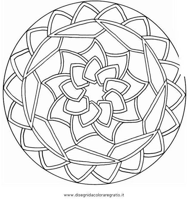 Disegno mandala 012 categoria giochi da colorare for Disegni vetrate