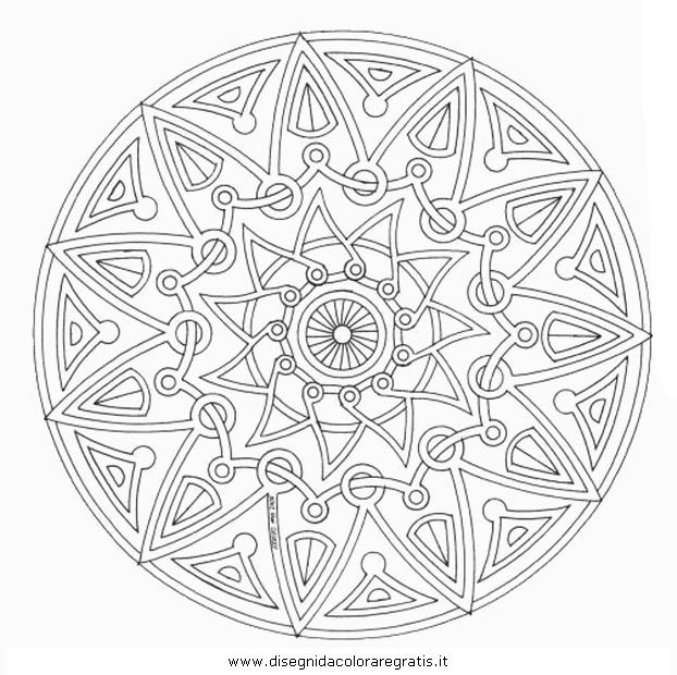 disegno mandala014 categoria giochi da colorare