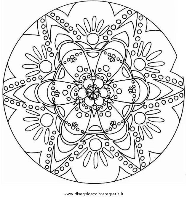 Disegno mandala 071 categoria giochi da colorare for Giochi da disegnare e colorare
