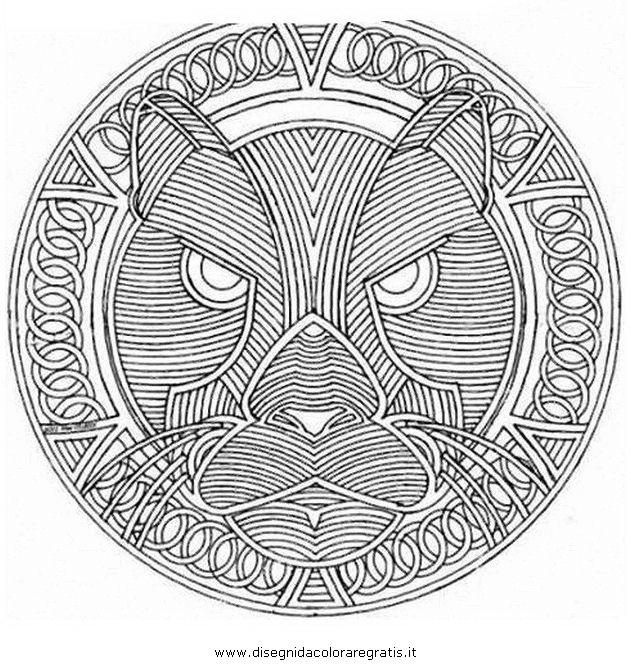 Disegno mandala 093 categoria giochi da colorare for Mandala da colorare con animali