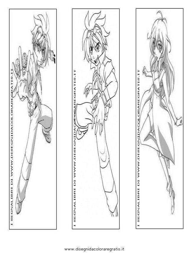 Disegno segnalibri bakugan personaggio cartone animato da
