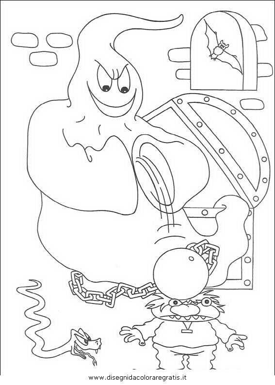 Disegno halloween fantasmi personaggio cartone animato