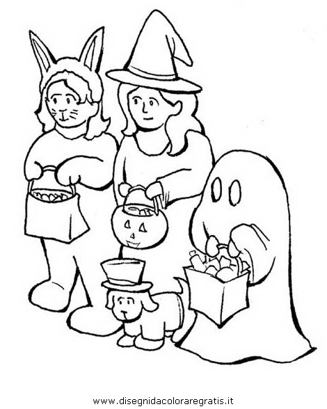 Disegno halloween personaggio cartone animato da colorare