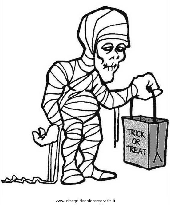 Disegno halloween mostri 18 personaggio cartone animato Disegni halloween da colorare gratis
