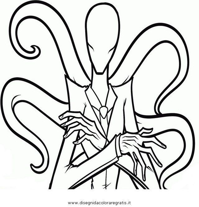 Disegno slenderman 3 categoria halloween da colorare for Slender man coloring pages