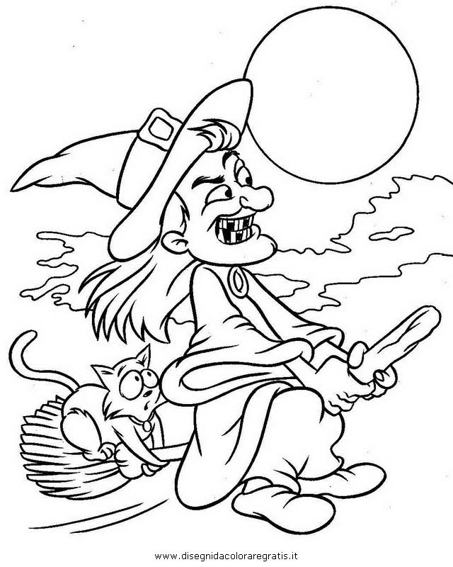 disegni da colorare halloween streghe